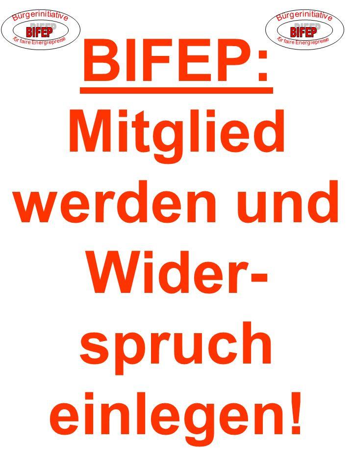 BIFEP: Mitglied werden und Wider- spruch einlegen!