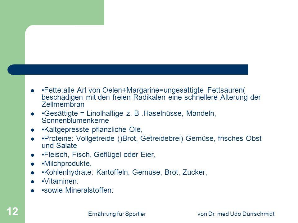 Ernährung für Sportlervon Dr.med Udo Dürrschmidt 13 Täglich min.