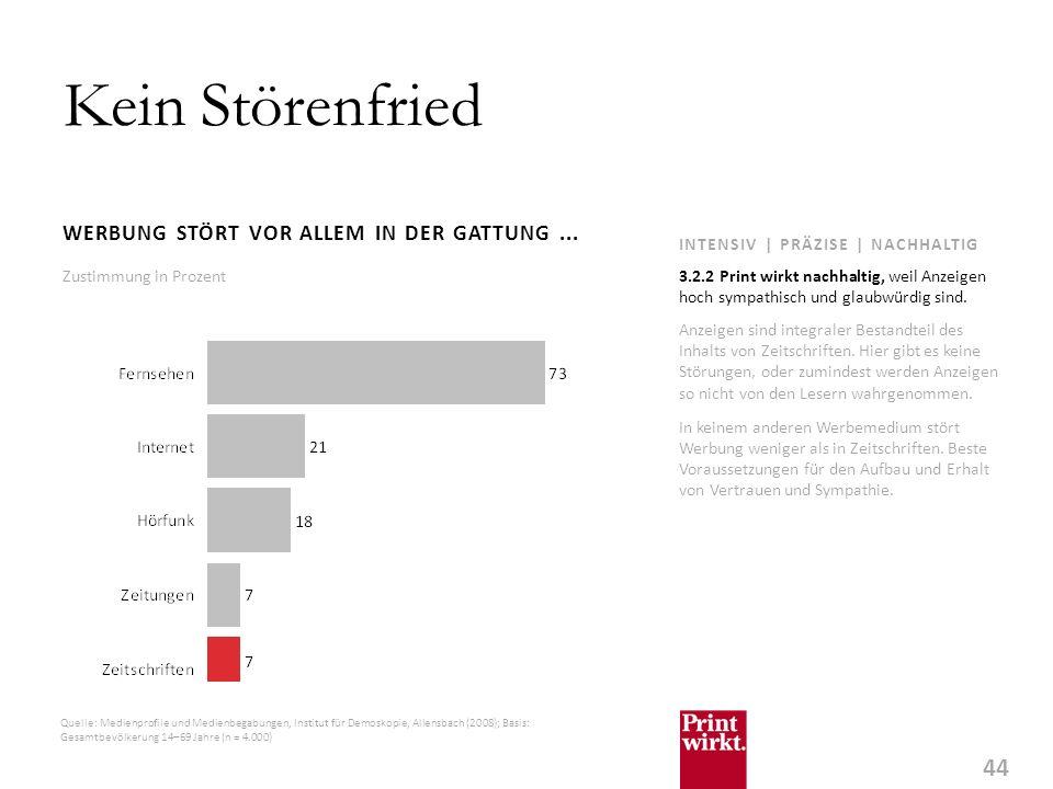 44 INTENSIV | PRÄZISE | NACHHALTIG Kein Störenfried WERBUNG STÖRT VOR ALLEM IN DER GATTUNG...