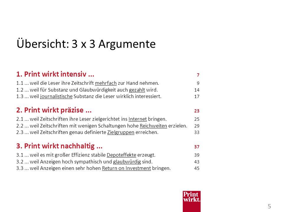 5 Übersicht: 3 x 3 Argumente 1.Print wirkt intensiv...