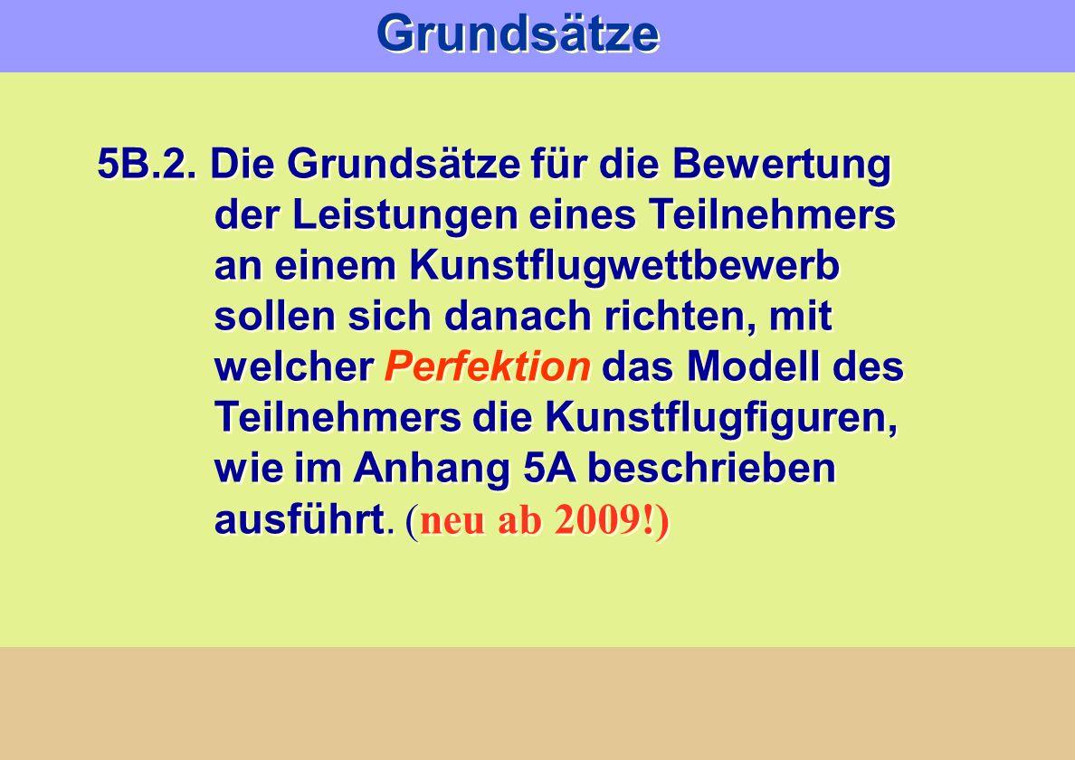 Grundsätze 5B.2. Die Grundsätze für die Bewertung der Leistungen eines Teilnehmers an einem Kunstflugwettbewerb sollen sich danach richten, mit welche