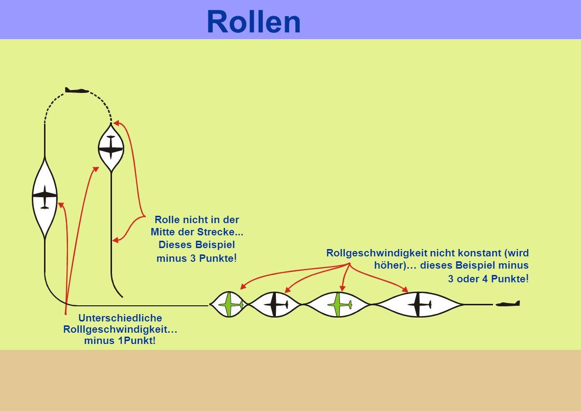 Rolle nicht in der Mitte der Strecke... Dieses Beispiel minus 3 Punkte ! Unterschiedliche Rolllgeschwindigkeit… minus 1Punkt! Rollgeschwindigkeit nich