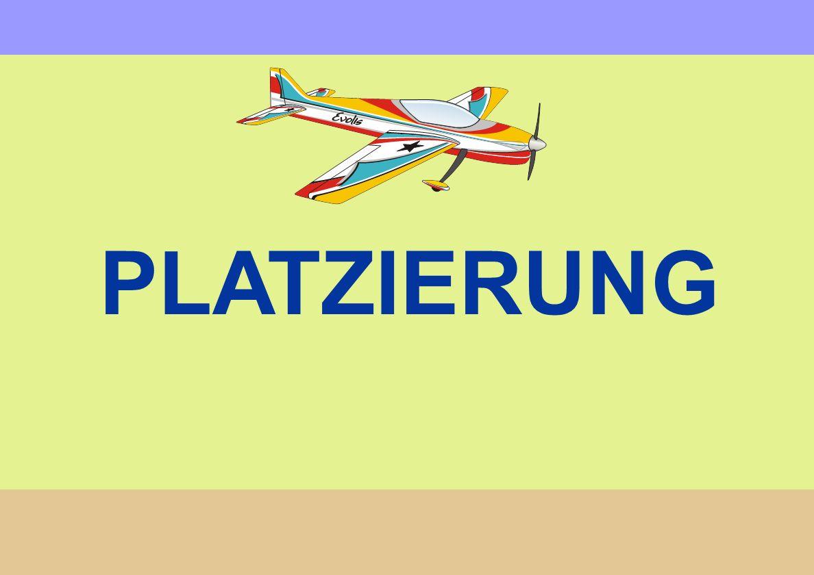 Größe In Bezug zum Flugraum und anderen Flugfiguren im Flug