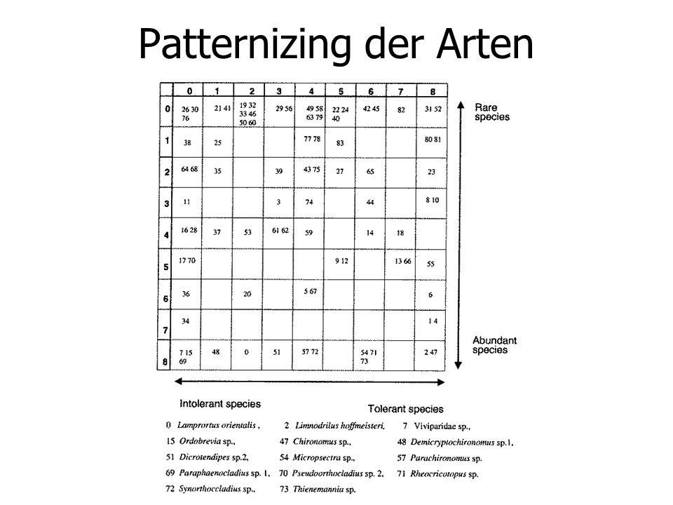 Patternizing der Arten