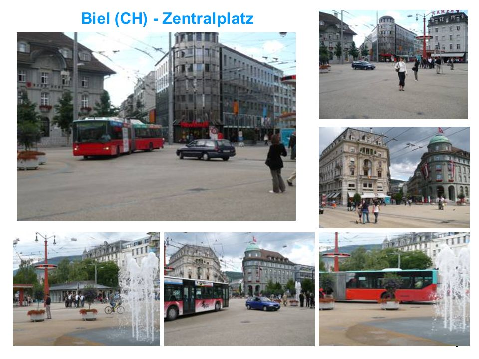 7 Was sind Begegnungszonen? 2002 in der Schweiz verkehrsrechtlich eingeführt, danach auch in Belgien und Frankreich Vergleichbar mit verkehrsberuhigte