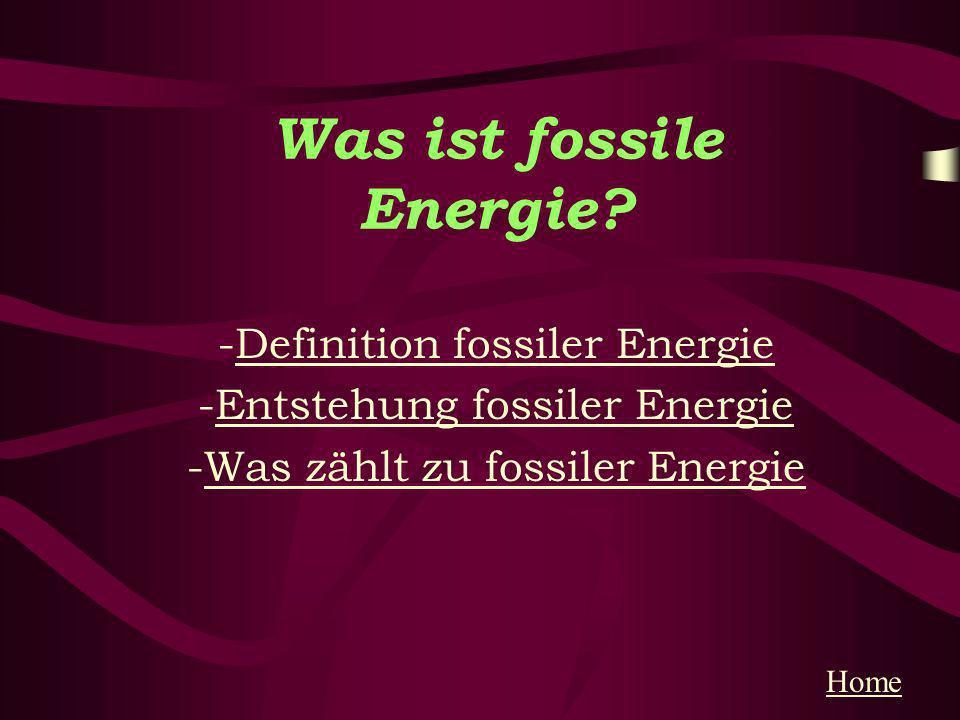 Entstehung fossiler Energie Entstehung Wo lagern die Vorräte Vorräte zurückHome