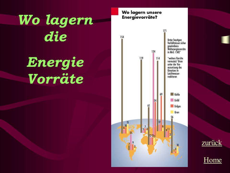 Wo lagern die Energie Vorräte Home zurück