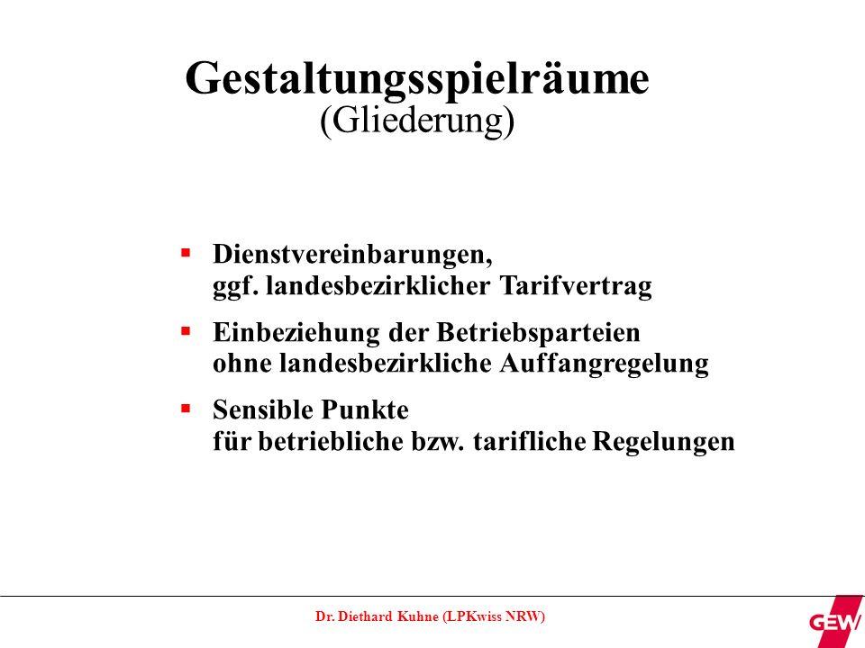 Dr.Diethard Kuhne (LPKwiss NRW) Dienstvereinbarungen ggf.