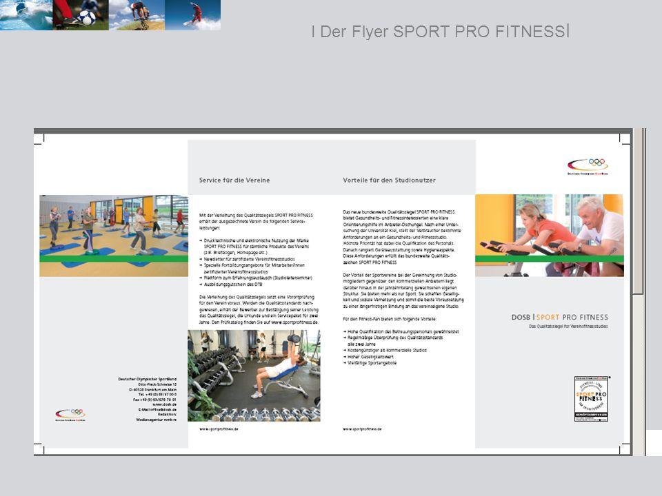 I Der Flyer SPORT PRO FITNESS I
