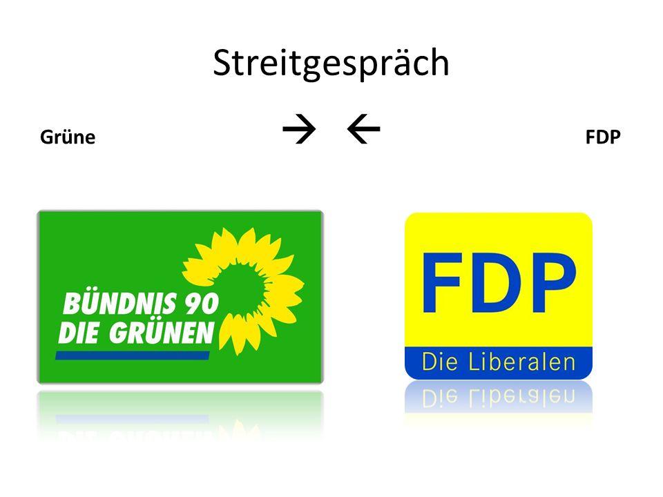 Streitgespräch Grüne FDP