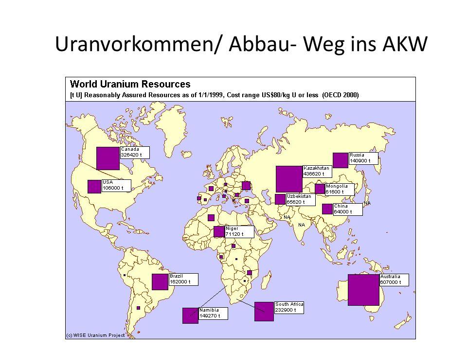 Uranvorkommen/ Abbau- Weg ins AKW
