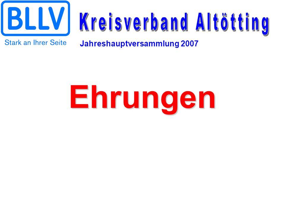 Jahreshauptversammlung 2007 Ehrungen