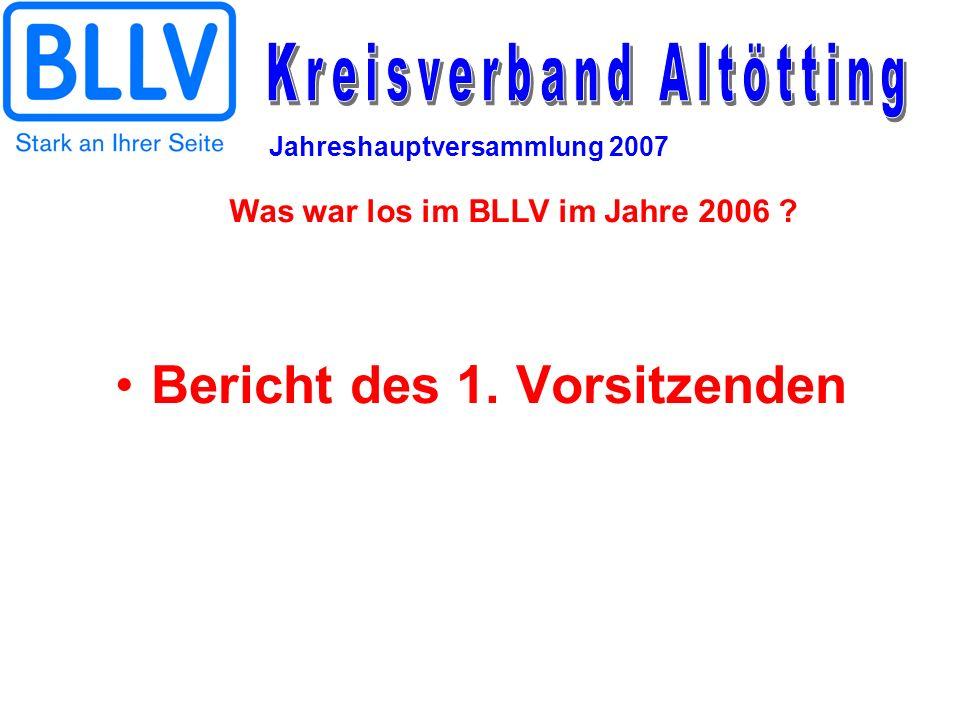 Jahreshauptversammlung 2007 Bericht des 1. Vorsitzenden Was war los im BLLV im Jahre 2006 ?