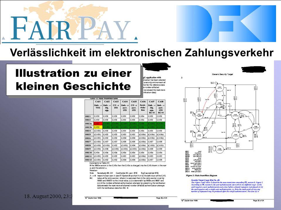 Verlässlichkeit im elektronischen Zahlungsverkehr 18. August 2000, 23:30Klaus P. Jantke Illustration zu einer kleinen Geschichte