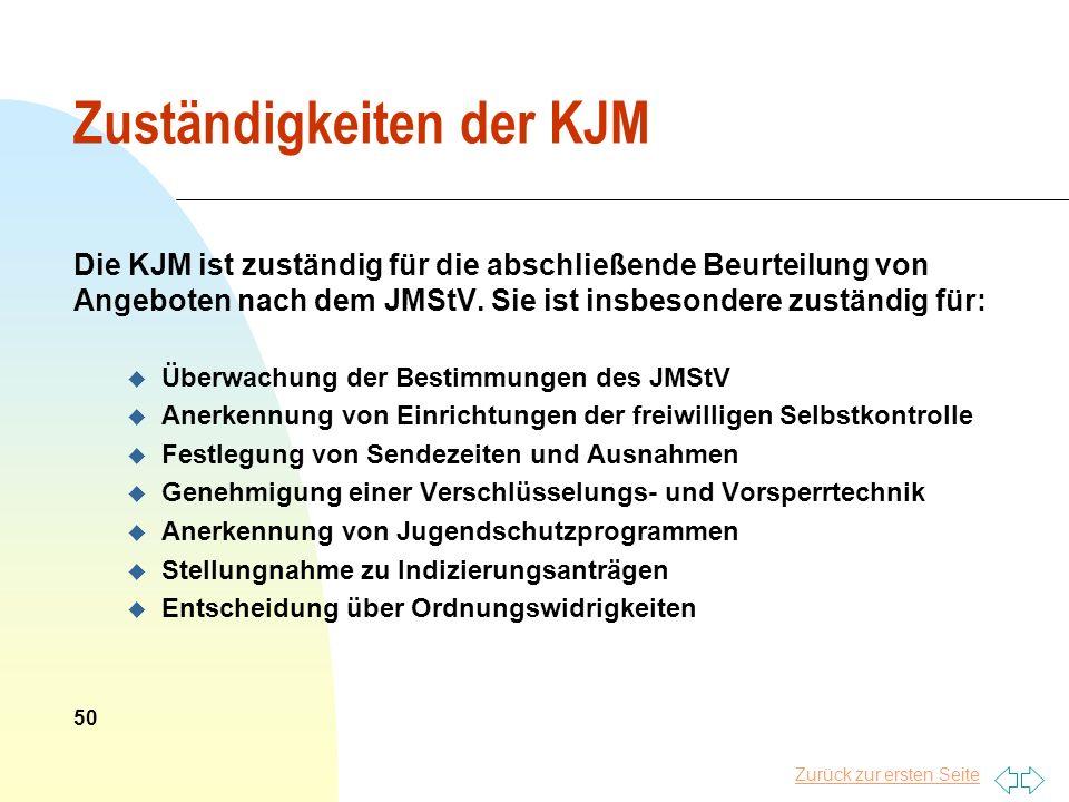 Zurück zur ersten Seite Zuständigkeiten der KJM Die KJM ist zuständig für die abschließende Beurteilung von Angeboten nach dem JMStV. Sie ist insbeson