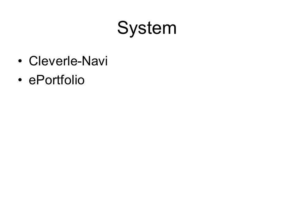 System Cleverle-Navi ePortfolio