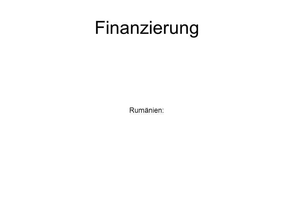 Finanzierung Rumänien: