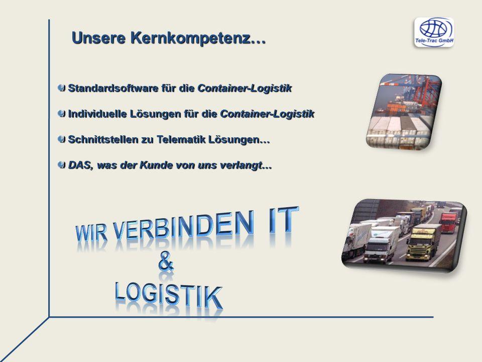Unsere Kernkompetenz… Standardsoftware für die Container-Logistik Standardsoftware für die Container-Logistik Individuelle Lösungen für die Container-