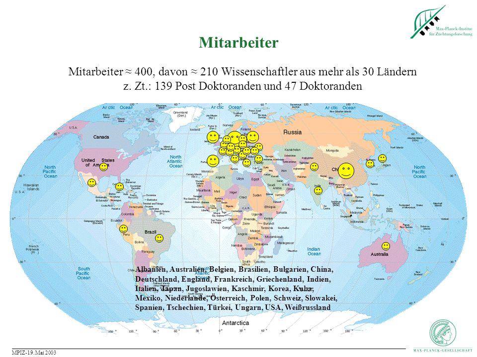 MPIZ-19. Mai 2003 Woher stammen unsere Kulturpflanzen?