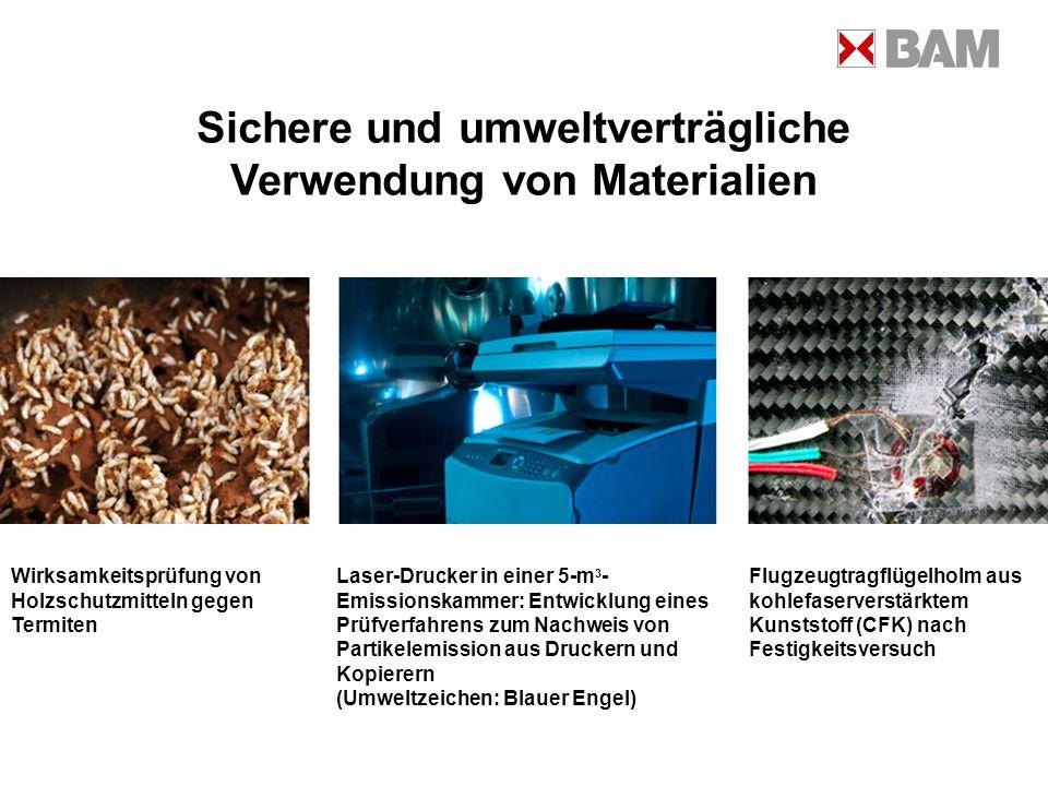 Sichere und umweltverträgliche Verwendung von Materialien Wirksamkeitsprüfung von Holzschutzmitteln gegen Termiten Laser-Drucker in einer 5-m 3 - Emis