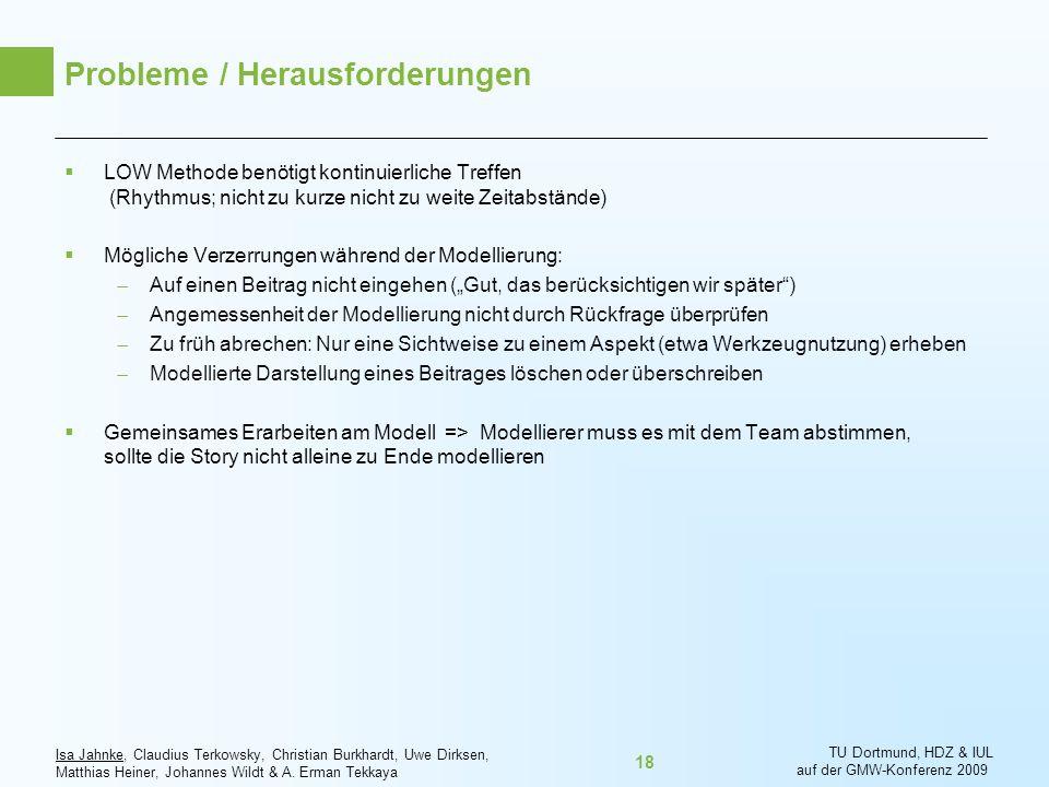 Isa Jahnke, Claudius Terkowsky, Christian Burkhardt, Uwe Dirksen, Matthias Heiner, Johannes Wildt & A. Erman Tekkaya TU Dortmund, HDZ & IUL auf der GM