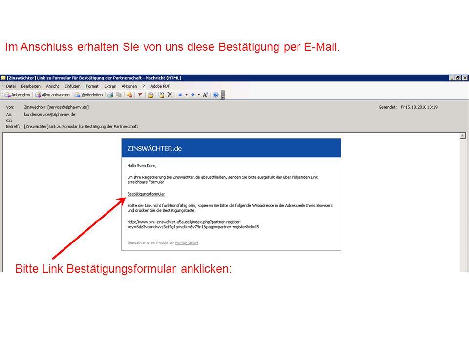 Im Anschluss öffnet sich in Ihrem Browser dieses Fenster: Bitte Partnertyp auswählen.