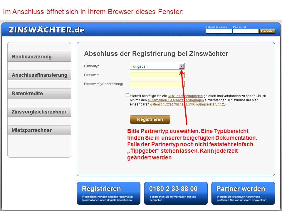 Im Anschluss öffnet sich in Ihrem Browser dieses Fenster: Im Anschluss selbst gewähltes Passwort eingeben und Bestätigungshäkchen setzen Zum Abschluss bitte den Button Registrieren anklicken musterbau X