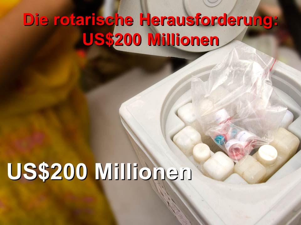 US$200 Millionen Die rotarische Herausforderung: US$200 Millionen
