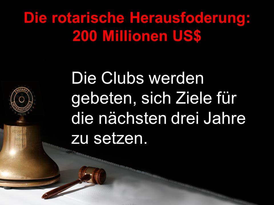 Die Clubs werden gebeten, sich Ziele für die nächsten drei Jahre zu setzen.
