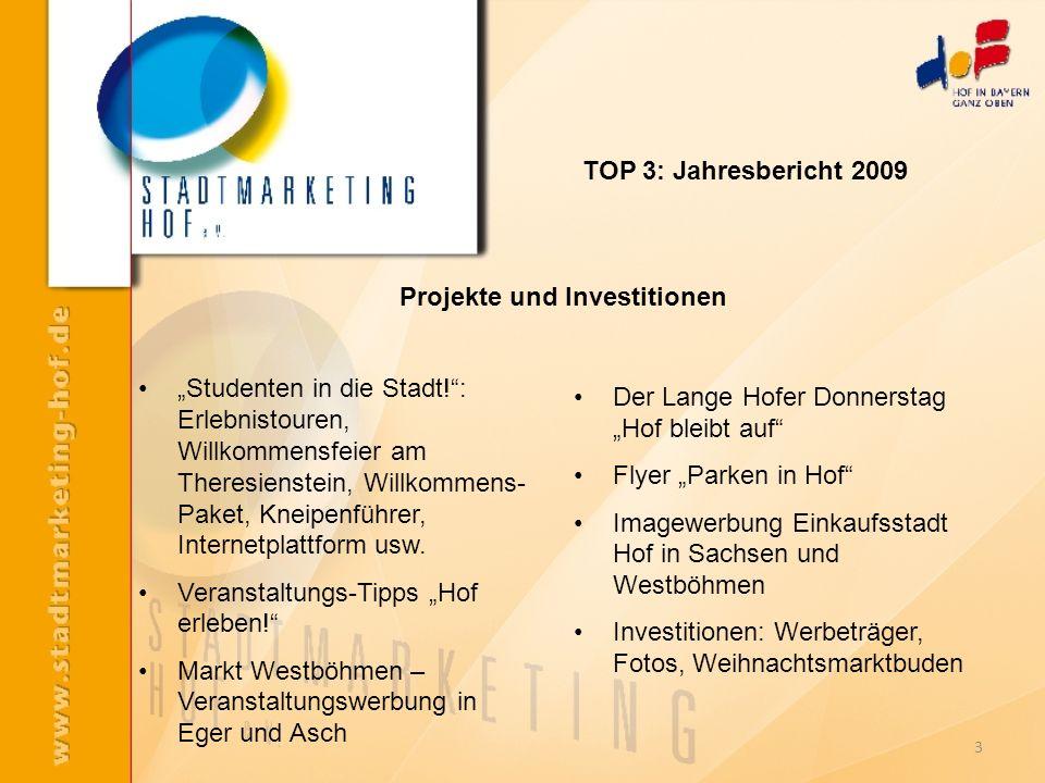 Projekte und Investitionen Studenten in die Stadt!: Erlebnistouren, Willkommensfeier am Theresienstein, Willkommens- Paket, Kneipenführer, Internetpla
