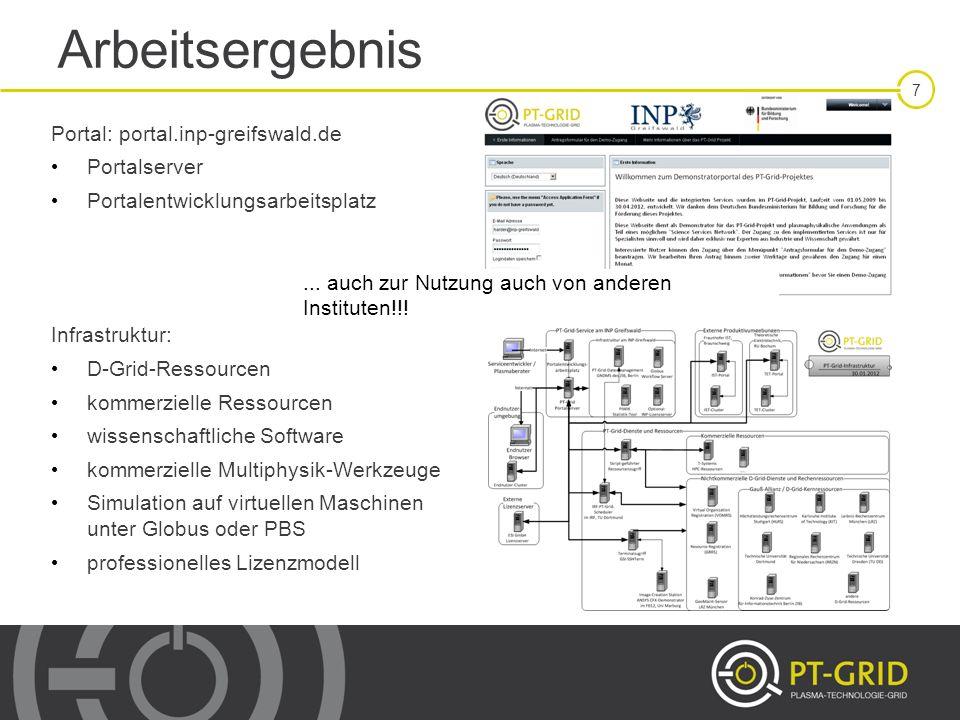 18 PT-Grid-Infrastruktur: kommerziell Integration von kommerziellen Clustern, z.B.