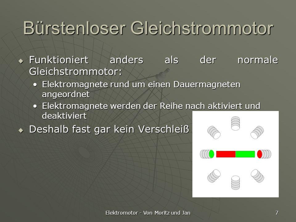 Elektromotor - Von Moritz und Jan 7 Bürstenloser Gleichstrommotor Funktioniert anders als der normale Gleichstrommotor: Funktioniert anders als der no