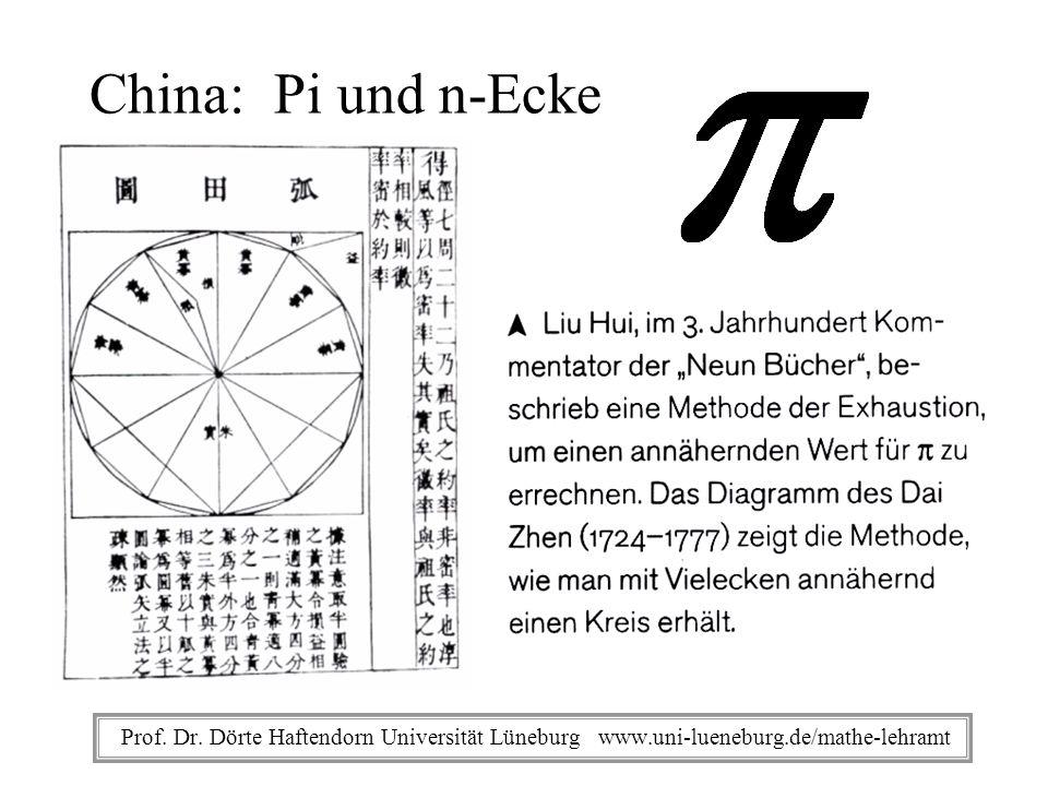Prof. Dr. Dörte Haftendorn Universität Lüneburg www.uni-lueneburg.de/mathe-lehramt Archimedes
