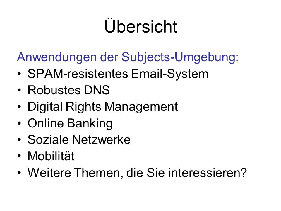 SPAM-resistente Emails