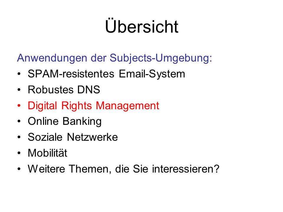 Digital Rights Management Problem: Digitaler Content ist kopierbar.