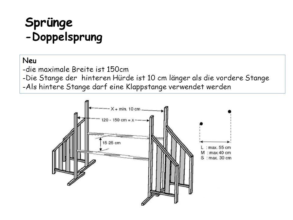 Sprünge - Mauer / Viadukt Neu : Korpus kann konisch sein, Maximale Breite 150cm Türme dürfen nicht mit Korpus verbunden sein Darf nur einmal im Parcours gestellt werden Darf nicht in einer Welle gestellt werden