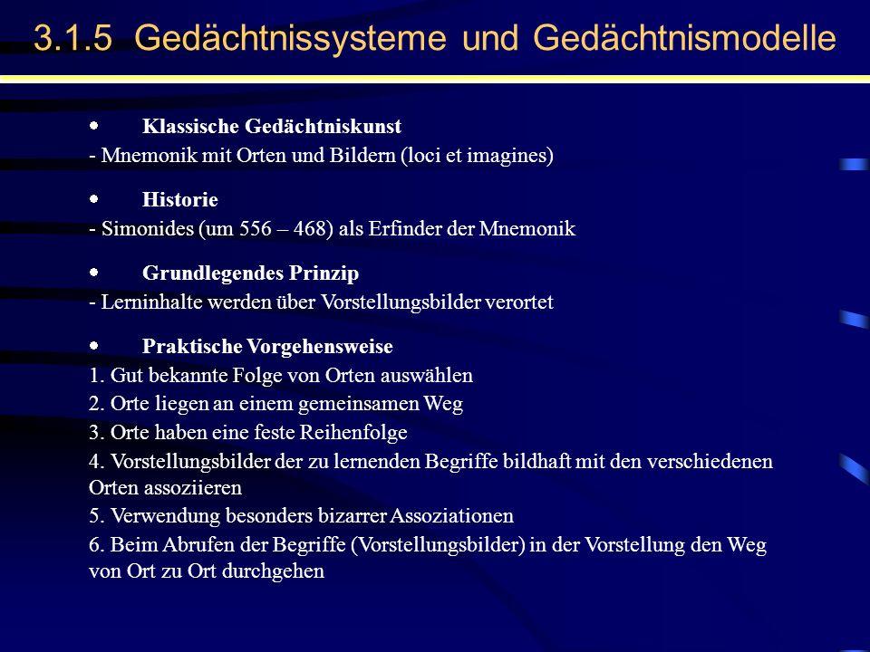 Klassische Gedächtniskunst - Mnemonik mit Orten und Bildern (loci et imagines) Historie - Simonides (um 556 – 468) als Erfinder der Mnemonik Grundlege