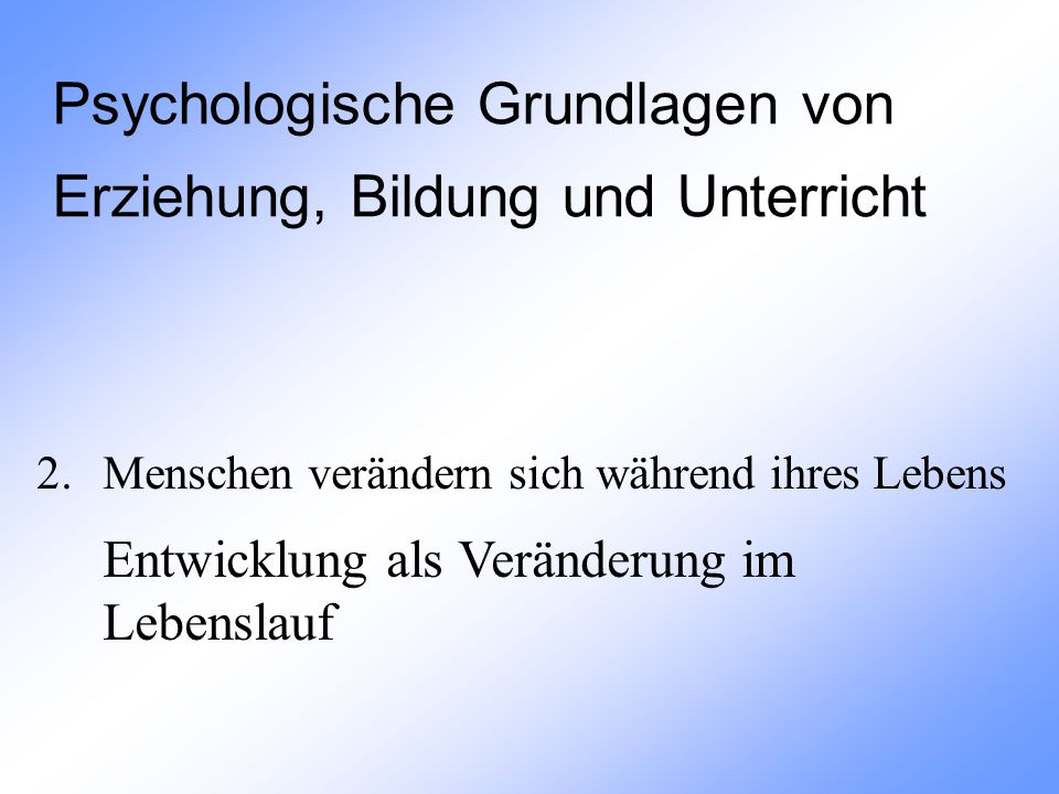 2.5.2 Stadien der kognitiven Entwicklung präoperationales vs.