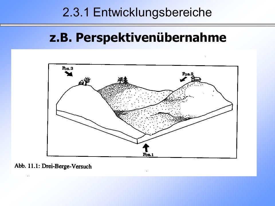 2.3.1 Entwicklungsbereiche z.B. Perspektivenübernahme