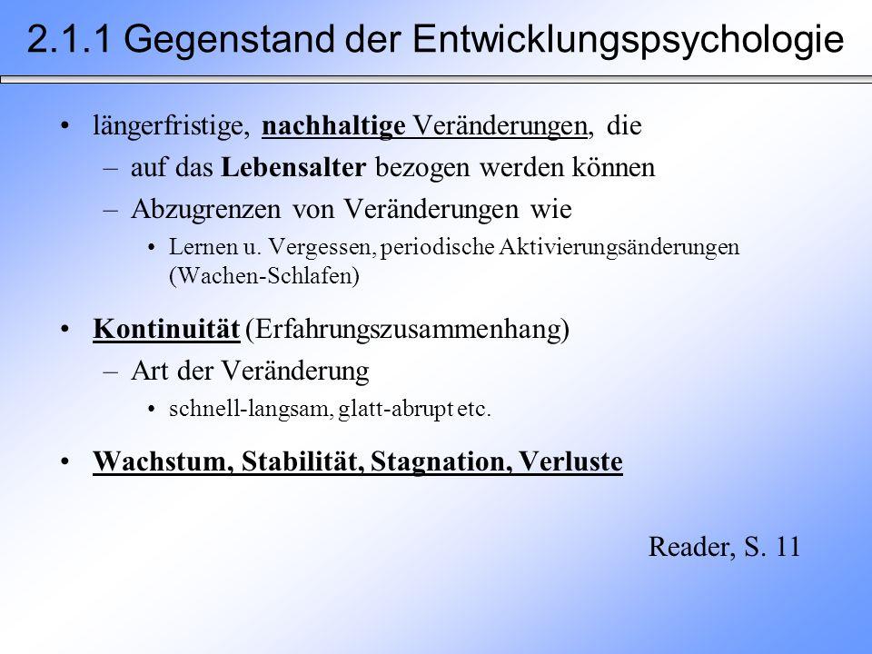 2.5.2 Stadien der kognitiven Entwicklung Konkret-operationales DenkenFormal-operationales Denken Unfähigkeit Variablen zu trennen und zu kontrollieren Beispiel: Beim Testen möglicher Faktoren, die die Bewegung eines Pendels beeinflussen, erhöht ein Schüler das Gewicht des Pendels und kürzt dabei gleichzeitig die Länge des Pendels.