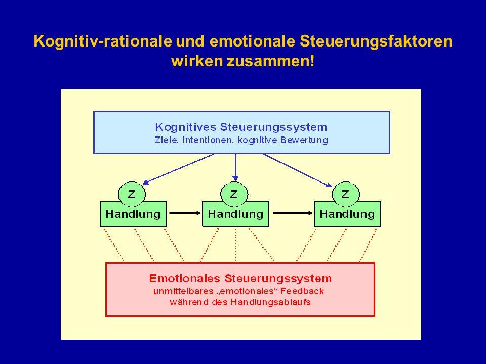 Kognitiv-rationale und emotionale Steuerungsfaktoren wirken zusammen!