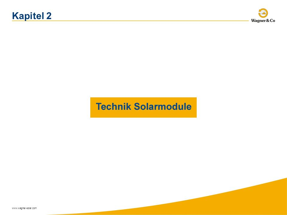 www.wagner-solar.com Kapitel 2