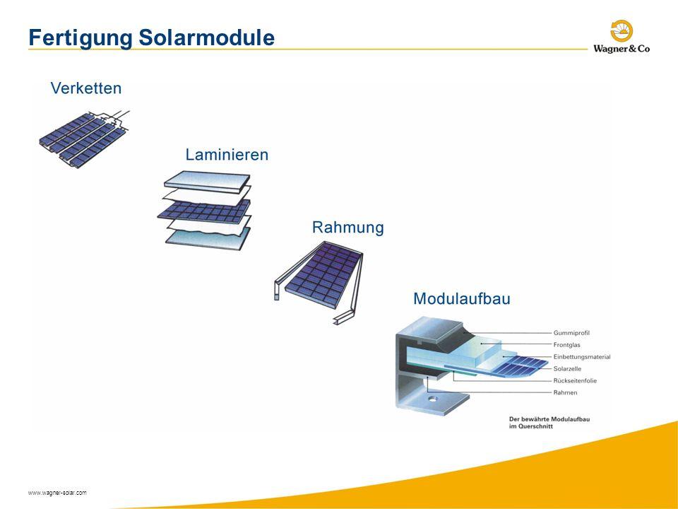 www.wagner-solar.com Fertigung Solarmodule