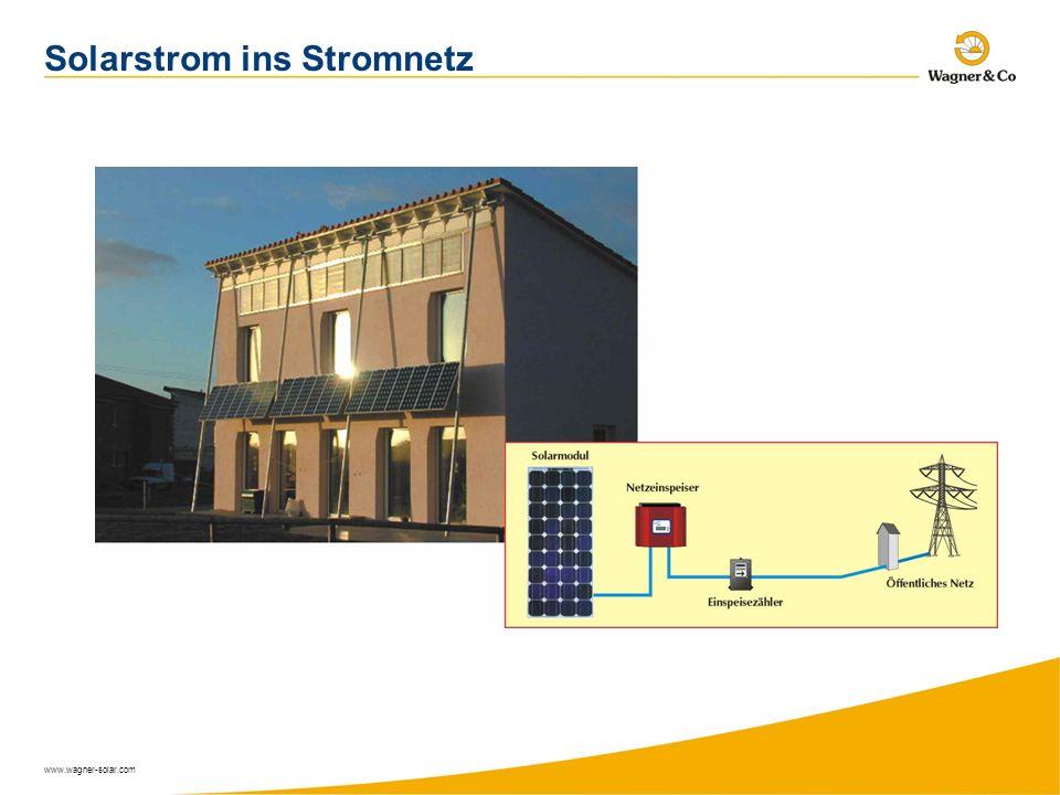 www.wagner-solar.com Solarstrom ins Stromnetz