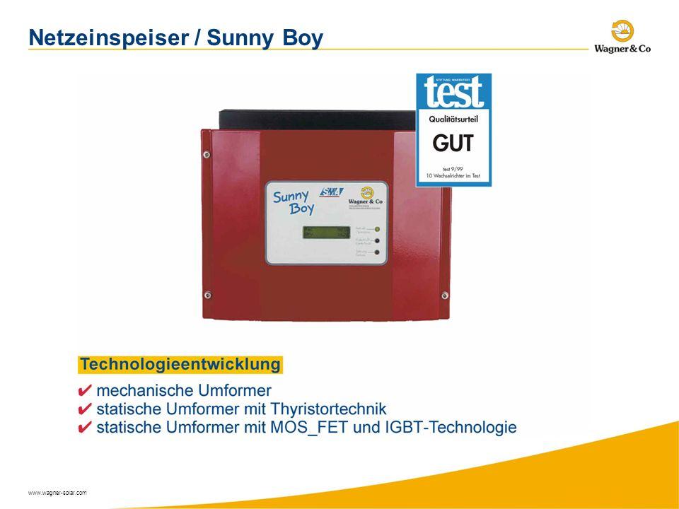 www.wagner-solar.com Netzeinspeiser / Sunny Boy