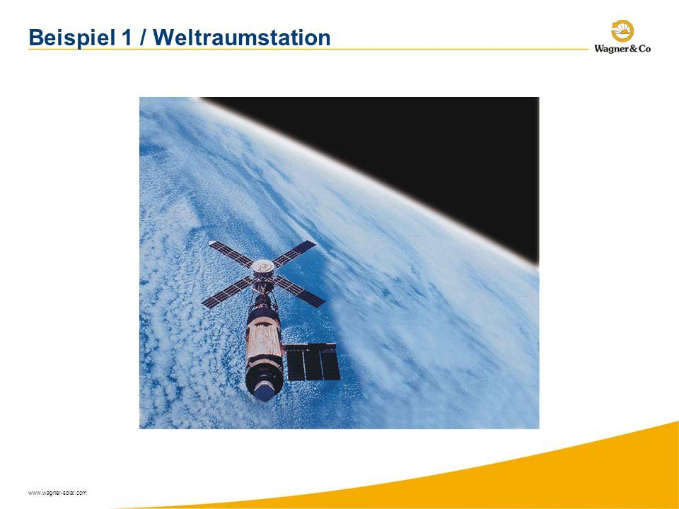 www.wagner-solar.com Beispiel 1 / Weltraumstation
