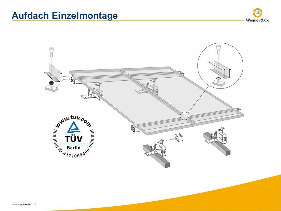 www.wagner-solar.com Aufdach Einzelmontage