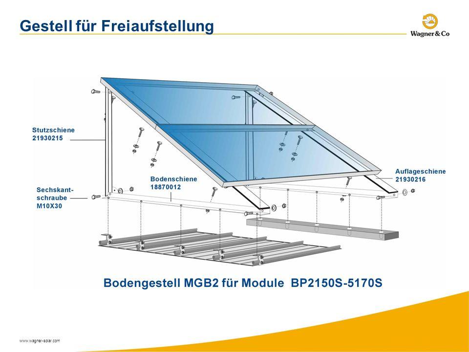 www.wagner-solar.com Gestell für Freiaufstellung