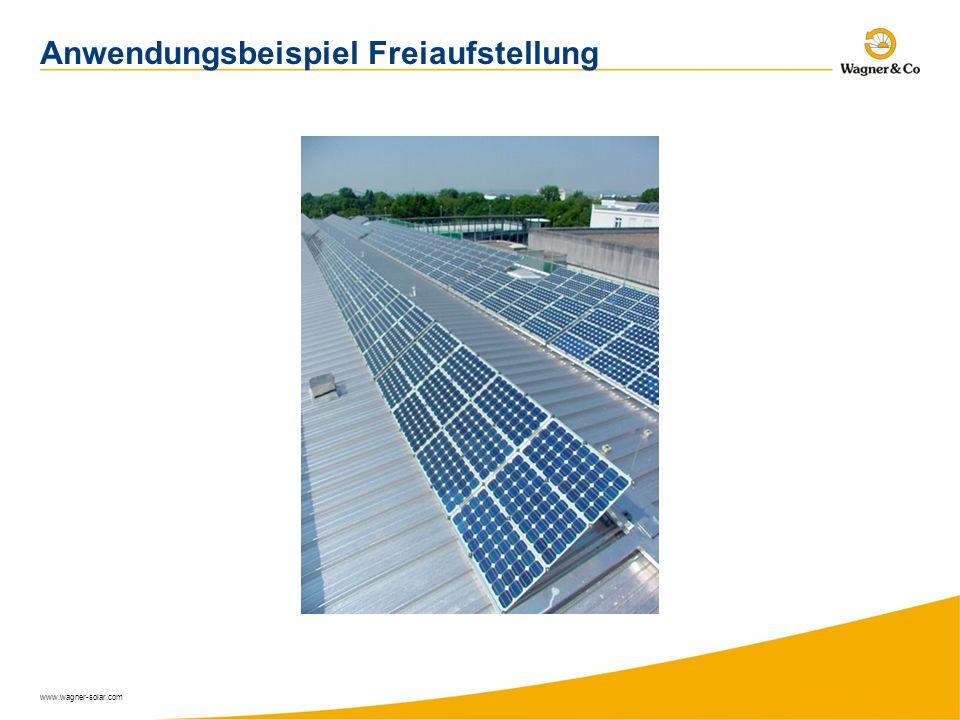 www.wagner-solar.com Anwendungsbeispiel Freiaufstellung