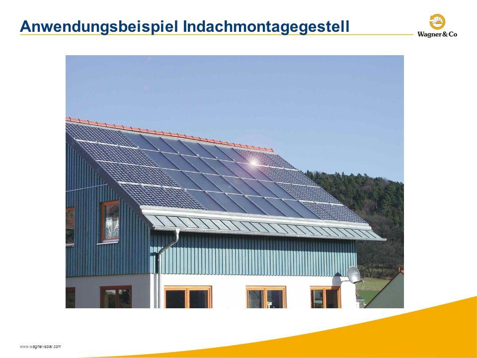 www.wagner-solar.com Anwendungsbeispiel Indachmontagegestell